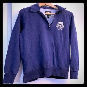 Roots Quarter Zip Sweatshirt, Royal Blue, Medium